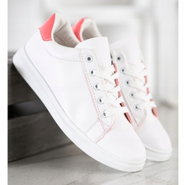 SHELOVET Classic Sport Shoes white pink 5