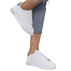 LG20 white classic sneakers silver grey 1
