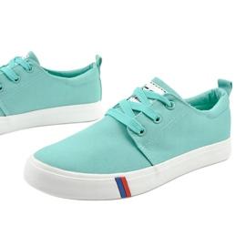 Green classic women's sneakers T-1743 1