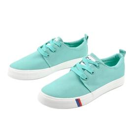 Green classic women's sneakers T-1743 2