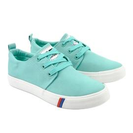 Green classic women's sneakers T-1743 3