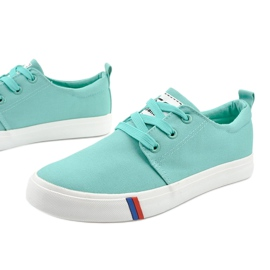 Green classic women's sneakers T-1743 4