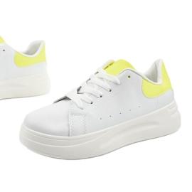White shiny sneakers LLQ204-10 yellow 1