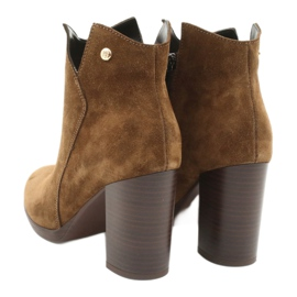 Gamis Leather suede boots on the post 4018 brown 3