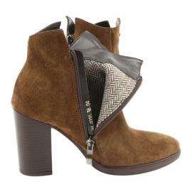 Gamis Leather suede boots on the post 4018 brown 4