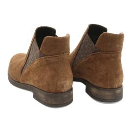 Gamis Chelsea boots, slip on suede 4036 brown 5