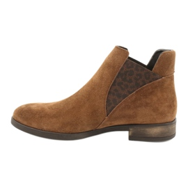 Gamis Chelsea boots, slip on suede 4036 brown 1