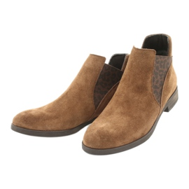 Gamis Chelsea boots, slip on suede 4036 brown 2