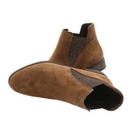 Gamis Chelsea boots, slip on suede 4036 brown 4