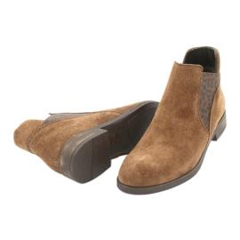 Gamis Chelsea boots, slip on suede 4036 brown 3
