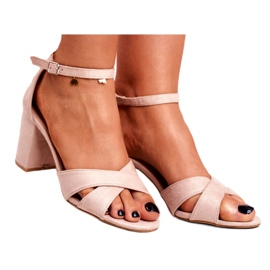 BUGO Women's Sandals Suede Beige Lady Million 3