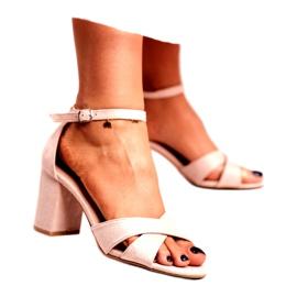 BUGO Women's Sandals Suede Beige Lady Million 1