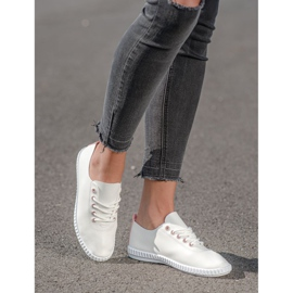 SHELOVET Light Sneakers With Eco Leather white 2