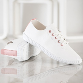 SHELOVET Light Sneakers With Eco Leather white 4
