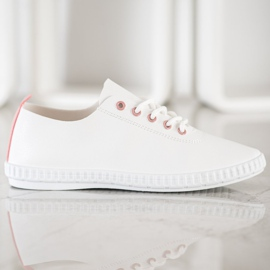 SHELOVET Light Sneakers With Eco Leather white 5