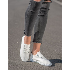 SHELOVET Light Sneakers With Eco Leather white 1