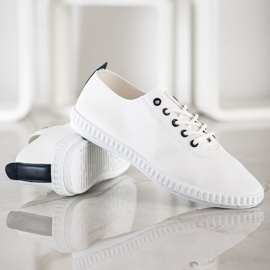 SHELOVET Light Sneakers With Eco Leather white 3