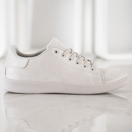 SHELOVET Gray Suede Sneakers grey 1