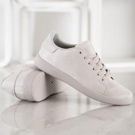 SHELOVET Gray Suede Sneakers grey 2