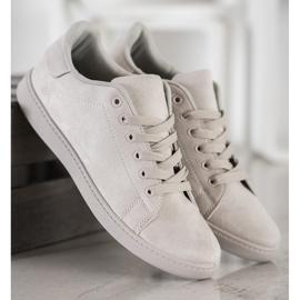 SHELOVET Gray Suede Sneakers grey 3