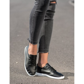 SHELOVET Black Sneakers With Eco Leather 2