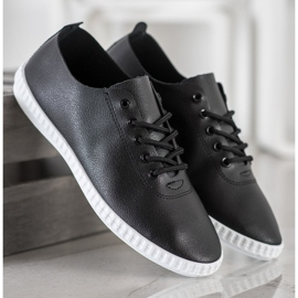 SHELOVET Black Sneakers With Eco Leather 3
