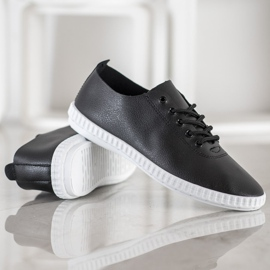 SHELOVET Black Sneakers With Eco Leather 4