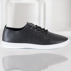 SHELOVET Black Sneakers With Eco Leather 5