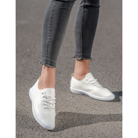 SHELOVET White Sneakers With Eco Leather 1