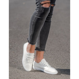 SHELOVET White Sneakers With Eco Leather 2