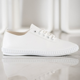 SHELOVET White Sneakers With Eco Leather 3