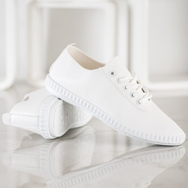 SHELOVET White Sneakers With Eco Leather 4
