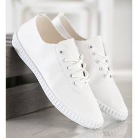 SHELOVET White Sneakers With Eco Leather 5
