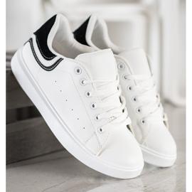 SHELOVET Comfortable White Sneakers 3