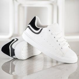 SHELOVET Comfortable White Sneakers 4