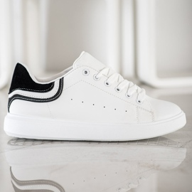 SHELOVET Comfortable White Sneakers 5