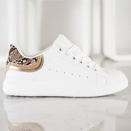 SHELOVET Comfortable White Sneakers 1