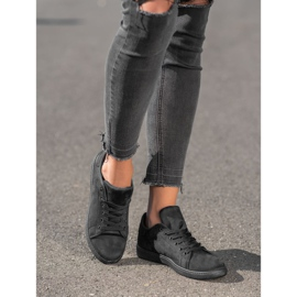 SHELOVET Black Suede Sneakers 3