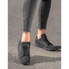 SHELOVET Black Suede Sneakers 2