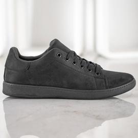 SHELOVET Black Suede Sneakers 1