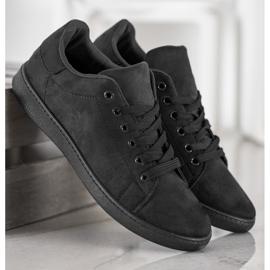 SHELOVET Black Suede Sneakers 4