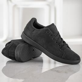 SHELOVET Black Suede Sneakers 5