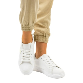 Classic white sneakers BK929-19 silver 1