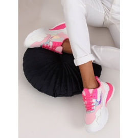White and pink sports shoes BH003 Rose 3