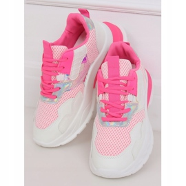 White and pink sports shoes BH003 Rose 1