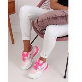 White and pink sports shoes BH003 Rose 2