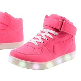 Sabana pink glowing high sneakers 2