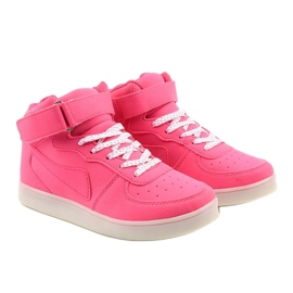 Sabana pink glowing high sneakers 3