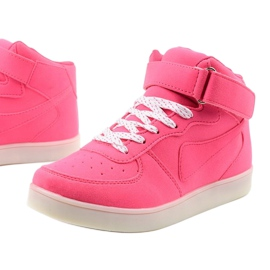 Sabana pink glowing high sneakers 1