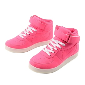 Sabana pink glowing high sneakers 5